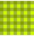 Green checkered cloth vector image vector image