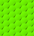 Green geometric hexagon background seamless vector image vector image
