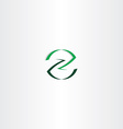 green letter z icon logotype element design vector image vector image
