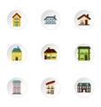 Habitation icons set flat style vector image vector image