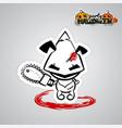 halloween evil dog puppy voodoo doll pop art vector image vector image