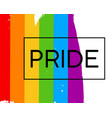 hand draw lgbt pride flag vector image vector image