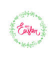 handdrawn happy easter holiday floral frame vector image