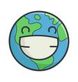happy planet earth cartoon vector image
