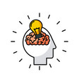 head brain bulb vector image