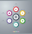 infographics template 6 options with circle vector image vector image
