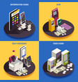 interfaces isometric design concept vector image