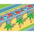 Isometric highway vector image vector image