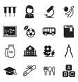kindergarten school education icons vector image vector image
