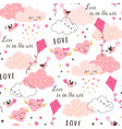 love is in air pattern vector image vector image