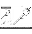 marshmallow line icon vector image vector image