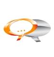 metal speech-bubbles vector image