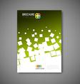 Modern abstract brochure report design template vector image