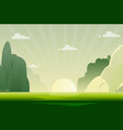 morning nature landscape with sunrise vector image vector image