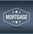 mortgage hexagonal white vintage retro style label vector image vector image
