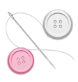 Needle thread and buttons vector image