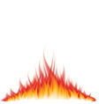 object fire white vector image vector image