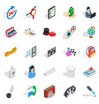 office work icons set isometric style vector image