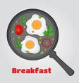 paper cut breakfast eggs in papercut style vector image vector image