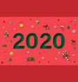 paper texture red background happy new year 2020 vector image vector image
