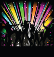 party and disco people vector image vector image