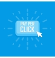 Pay per click concept flat icon vector image