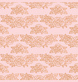 peonies seamless pattern rose gold background vector image