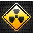 Radiation warning sign vector image vector image