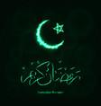 ramadan kareem silhouette of lights vector image