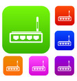 router set collection vector image vector image