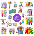 school and education carton set vector image vector image