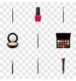 set of cosmetics realistic symbols with eyeshadow vector image vector image