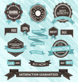set of retro labels vector image vector image