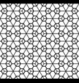 simple seamless geometric ornament in black and vector image vector image
