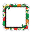 sketch style fresh fruits vegetables vector image vector image