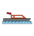 small boat isolated vector image vector image
