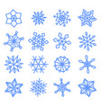 snowflakes doodle set for your happy new year vector image