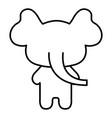 stuffed animal elephant vector image