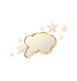 tag with stars vector image vector image