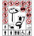 toilet's symbol vector image vector image