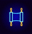 torah neon sign vector image