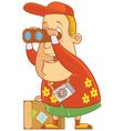 tourist binocular vector image