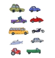 Transport Sketch Set color vector image vector image
