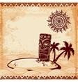 Vintage Tiki vector image vector image