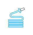 watering the garden linear icon concept watering vector image vector image