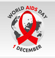 world aids day poster aids awareness vector image vector image