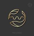 zodiac sign pisces pisces logo vector image vector image