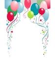 happy birthday balloons vector image