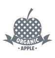 organic apple logo vintage style vector image