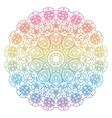 Round rainbow mandala background vector image
